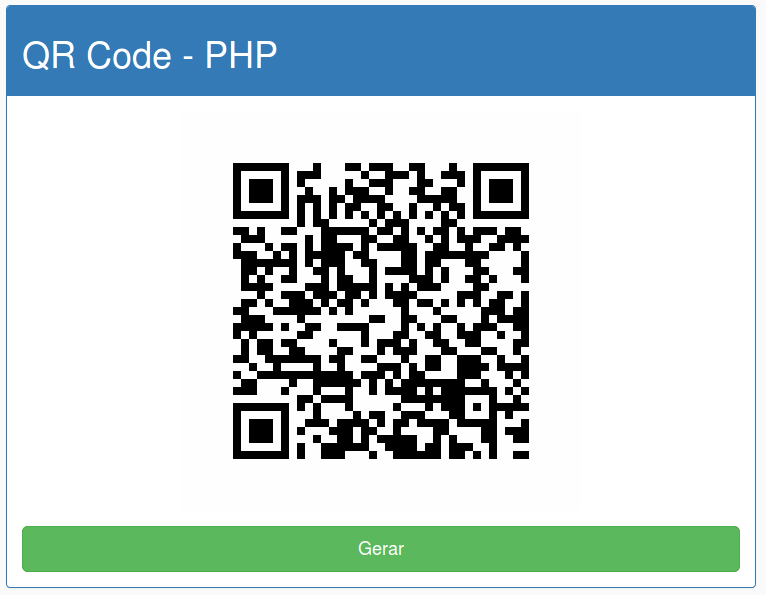 qr code implementado no post