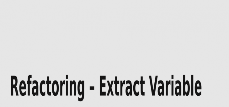Refactoring – Extract Variable